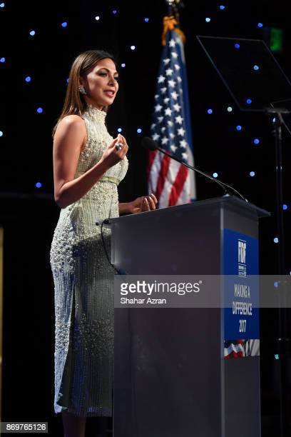Moran Atias at the FIDF Western Region Gala held at The Beverly Hilton Hotel on November 2 2017 in Beverly Hills California