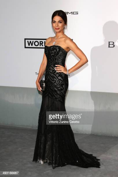 Moran Atias attends amfAR's 21st Cinema Against AIDS Gala Presented By WORLDVIEW BOLD FILMS And BVLGARI at Hotel du CapEdenRoc on May 22 2014 in Cap...