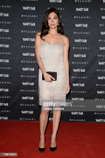 Moran Atias attends the 'La Dolce Diva' Opening Exhbition during The 70th Venice International Film Festival at Granai dell'Hotel Cipriani on August...