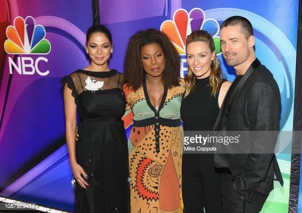 Moran Atias Lorraine Toussaint Michaela McManus Warren Christie attend NBC's New York Mid Season Press Junket at Four Seasons Hotel New York on...