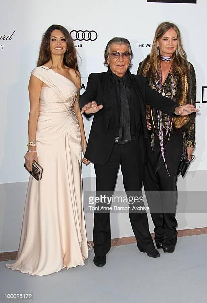 Moran Atias Roberto Cavalli and Eva Cavalli attend the amfAR Cinema Against AIDS 2010 at the Hotel du Cap during the 63rd Annual Cannes Film Festival...