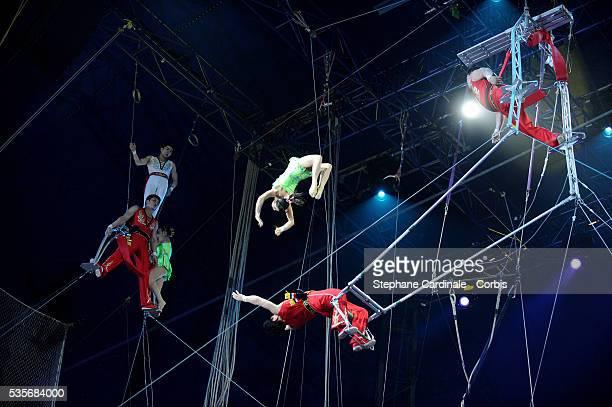 Moranbong Cirus of Pyong Yang perform during the 33rd Annual Monte Carlo Circus Festival in Monaco
