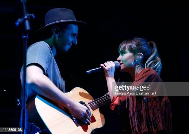 Morat and Aitana perform in concert at Wizink Center on May 12 2019 in Madrid Spain