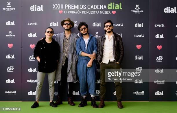 Morat attends 'Cadena Dial' Awards 2019 at Recinto Ferial Santa Cruz de Tenerife on March 14 2019 in Tenerife Spain