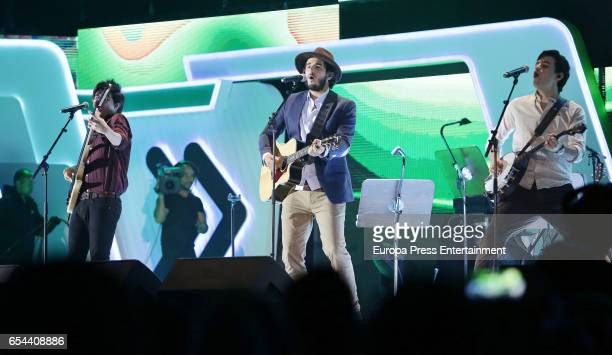 Morat attends the 'Cadena Dial' awards gala on March 16 2017 in Tenerife Spain