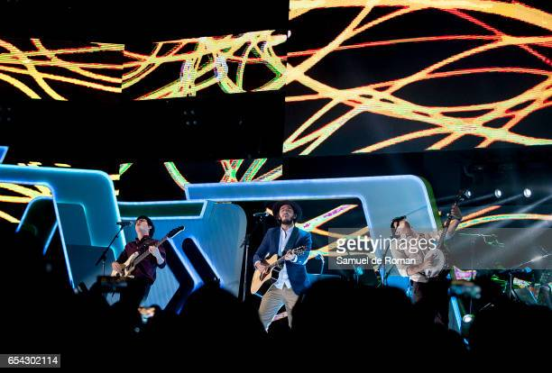 Morat Performs during Cadena Dial Awards on March 16 2017 in Tenerife Spain