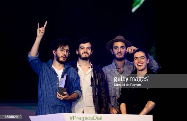 Morat receives an award at the Cadena Dial Awards on March 14 2019 in Tenerife Spain