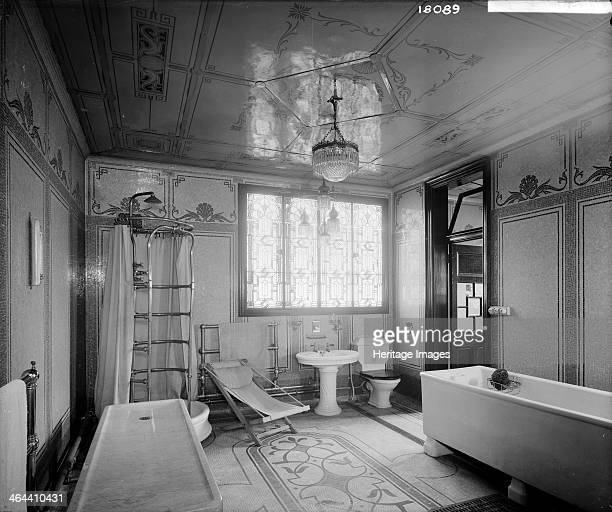 Moray Lodge Kensington London 1904 Showing the turkish bath with highly ornate mosaics on the walls and floors and stained glass window Moray Lodge...