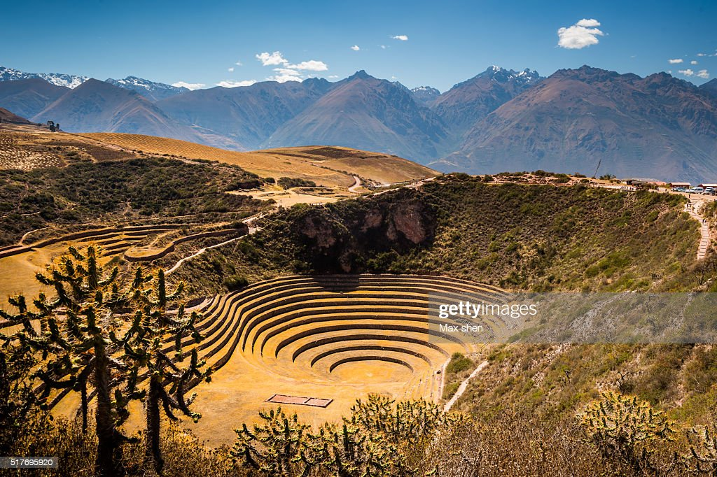 Moray, the Incan agricultural site in Peru : Stock-Foto
