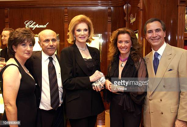 Mordechai Yerushalmi Phyllis McGuire Caroline GruosiScheufele Owner of Chopard and Thierry Chaunu President of Chopard USA