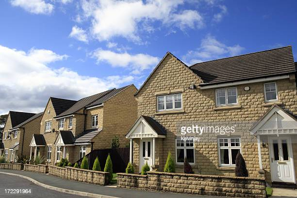mordern day family houses in the middle of the day - next to stock pictures, royalty-free photos & images