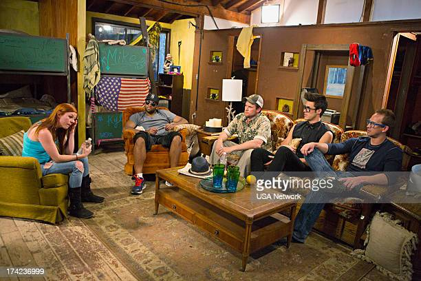 CAMP S'More Drama Episode 102 Pictured Erin Cosgrove Chris Grant Justin Jackson Kyle Kleiboeker Mike Ward
