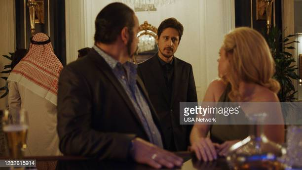 """More Money More Problems"""" Episode 505 -- Pictured in this screengrab: Hemky Madera as Pote, Peter Gadoit as James Valdez, Molly Burnett as Kelly Anne..."""
