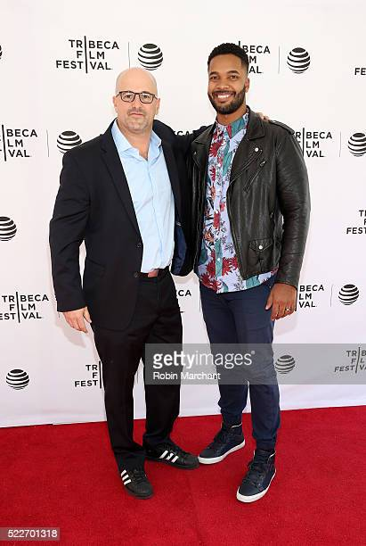 More Perfect Union Director Eric Drath and Erics Mercedes attend Tribeca Talks After The Movie Elections and Scandal at SVA Theatre 2 on April 20...