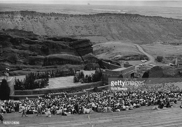 JUL 4 1956 JUL 5 1956 More than 1 1/2 hours before the start of 'Silk Stockings' Broadway hit musical theater fans were streaming into Red Rocks...