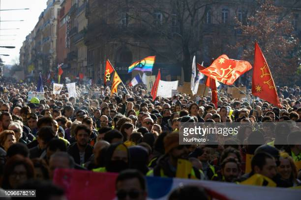 More than 10 thousands people took part to the demo Act XIII dubbed 'Civil disobediencequot' of the Yellow Vest movement begun peacefully but the...