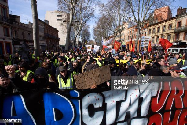 More than 10 thousands people took part to the protest Act XIII dubbed 'Civil disobediencequot' of the Yellow Vest movement begun peacefully but the...