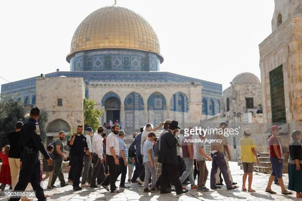 More than 1000 Israeli settlers including children are their way into East Jerusalems flashpoint AlAqsa Mosque compound backed by Israeli police...