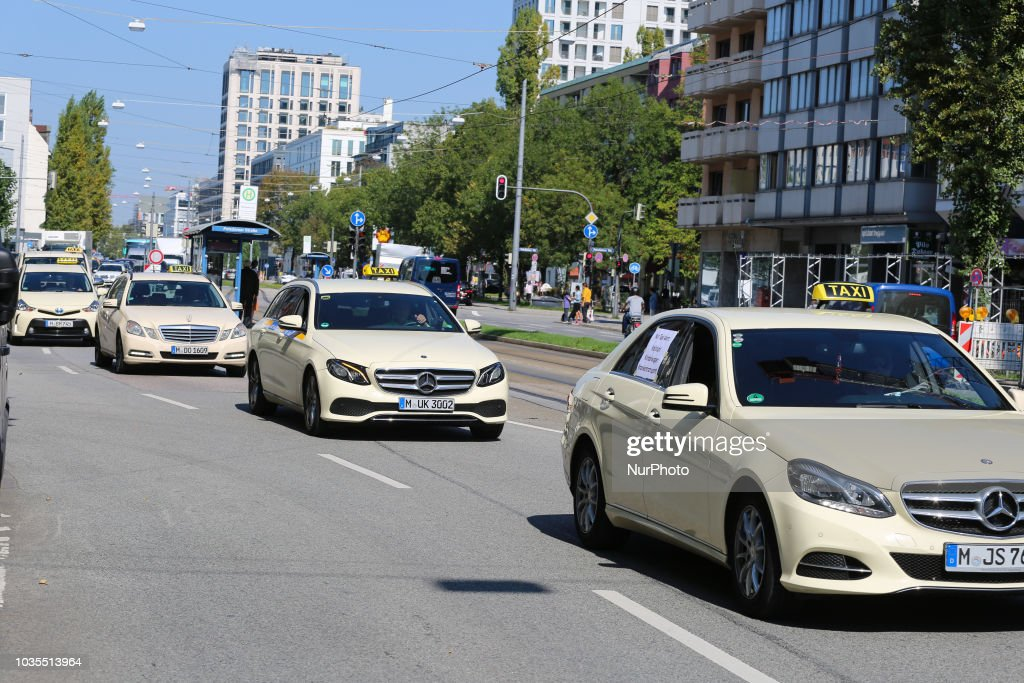 more than 1000 taxi drivers protested in munich against uber and news photo getty images. Black Bedroom Furniture Sets. Home Design Ideas