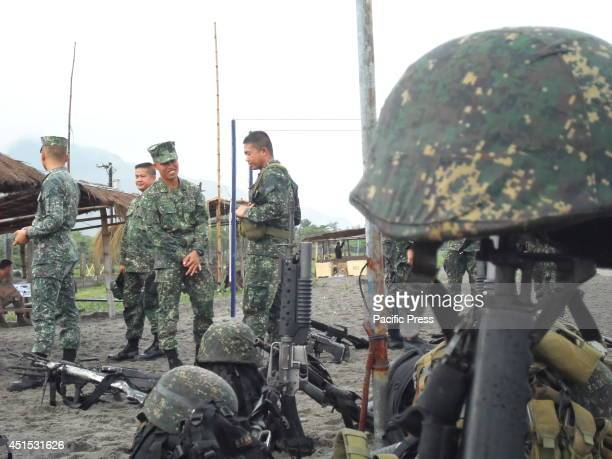 SAN ANTONIO ZAMBALES PHILIPPINES More than 1000 US and Philippine Navy participates the amphibious docking from sea to coast of San Antonio of...