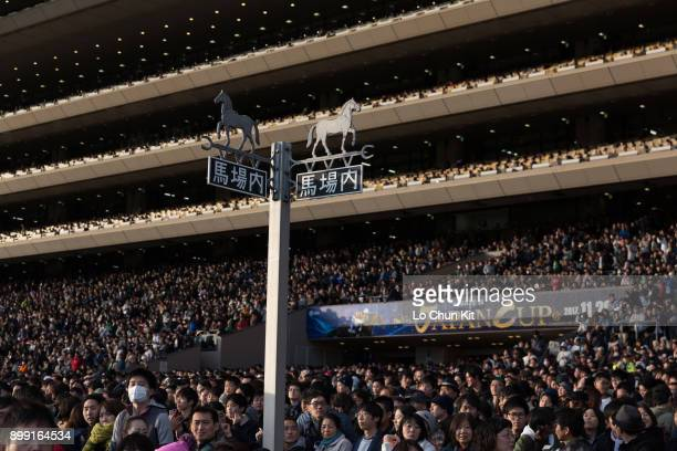 More than 108,000 people attend the Japan Cup at Tokyo Racecourse on November 26, 2017 in Tokyo, Japan.