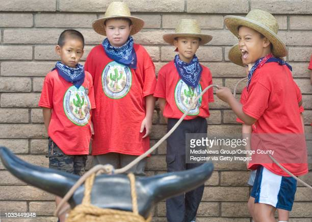 More than 120 Girl Scouts and their siblings including Joey Squishy Dinglason take part in a week long ÒHow the West Was FunÓ day camp near Irvine...