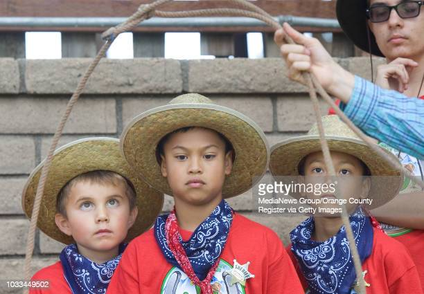 More than 120 Girl Scouts and their siblings take part in a week- long ÒHow the West Was FunÓ day camp near Irvine Lake. Activities included roping...