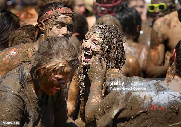 More than 1200 students celebrated the end of the school year at the 10th annual Festivus an independently thrown mud party open to all Elon...