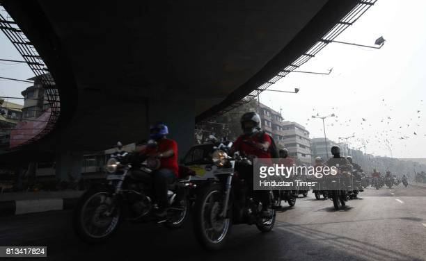 "More than 150 biker participated in Bike rally organised for AIDS awareness camainge by BMC and ""Durex"" Condoms in Safe sex and safe motorcycling in..."
