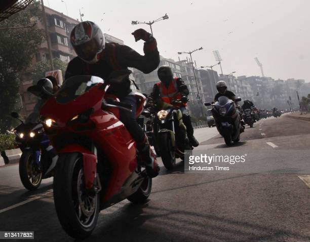 More than 150 biker participated in Bike rally organised for AIDS awareness camainge by BMC and 'Durex' Condoms in Safe sex and safe motorcycling in...