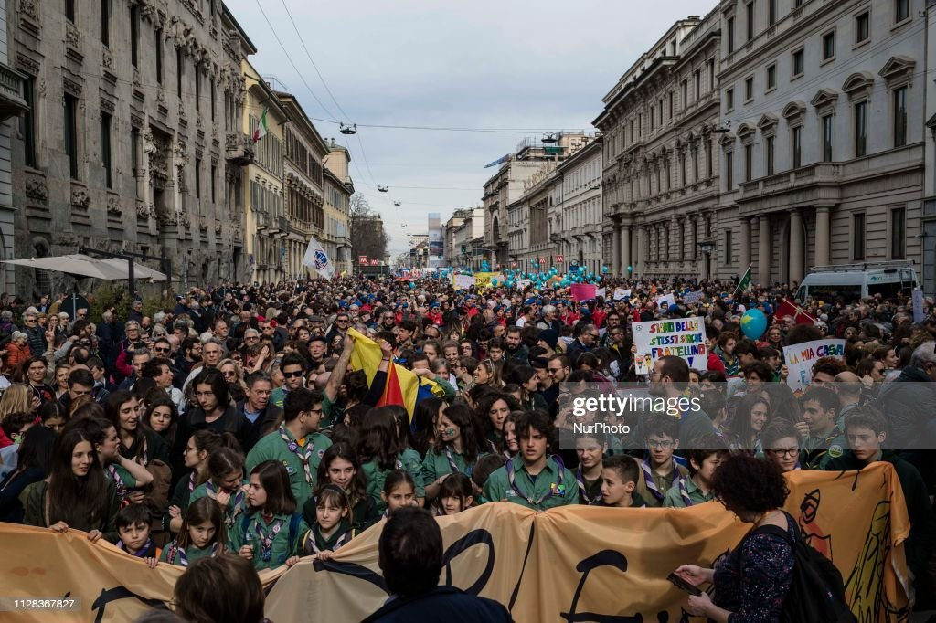 Big Demonstration Against Racism In Milan : News Photo