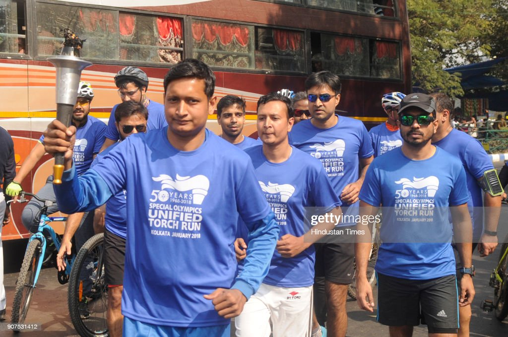 Special Children Participate In Special Olympics Bharat Torch March Rally In Kolkata