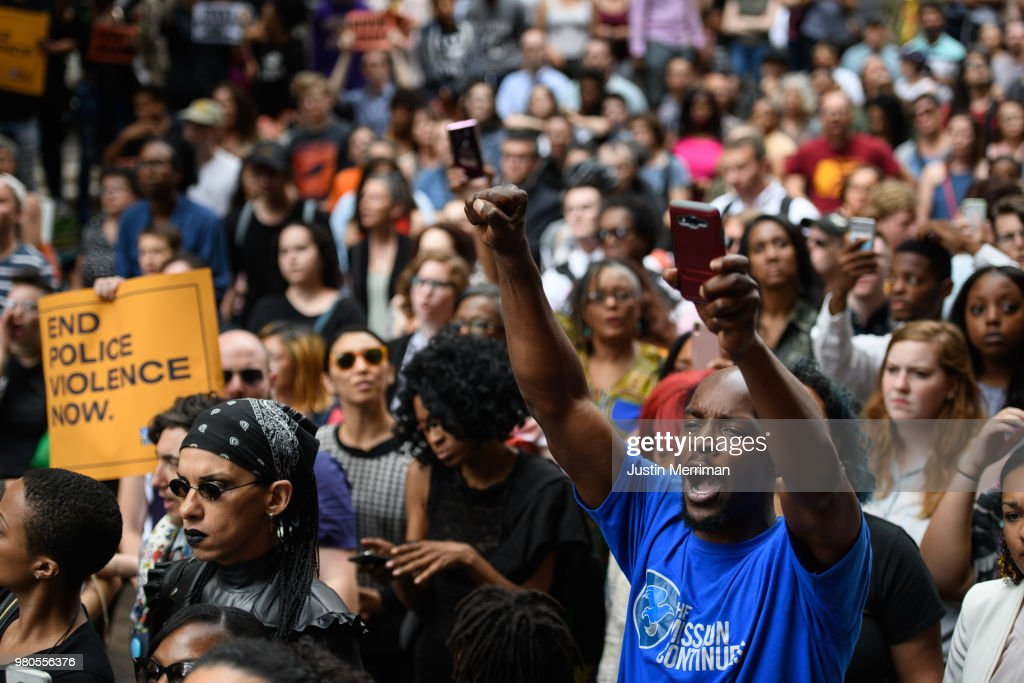 Activists Demonstrate In Pittsburgh After Unarmed Black Teen Was Fatally Shot In Back By Police While Fleeing A Traffic Stop