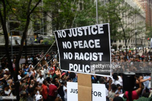 More than 200 people gathered for a rally to protest the fatal shooting of an unarmed black teen at the Allegheny County Courthouse on June 21 2018...