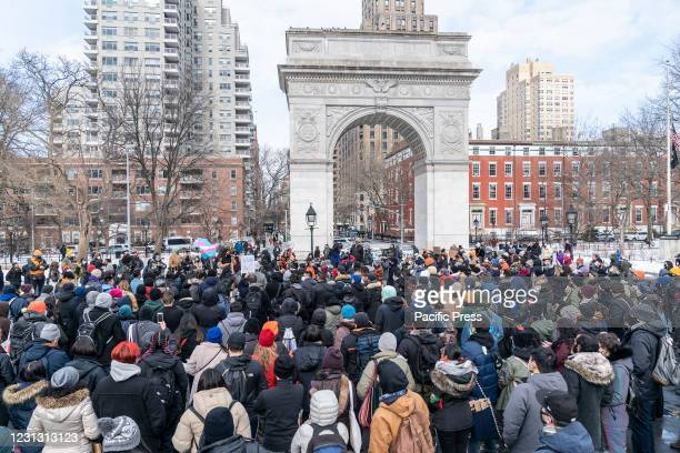 More than 200 people gathered on Washington Square Park to rally in support Aisian community, against hate crime and white nationalism. Rally was...
