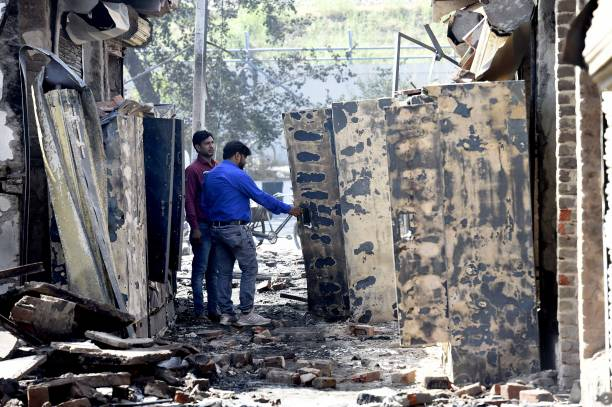 IND: Massive Fire Breaks Out At Furniture Market At Shastri Park In Delhi