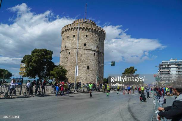 More than 20000 people crossed the finish line after the run in the 13th International Marathon Alexander the Great in Thessaloniki Greece on 1st...