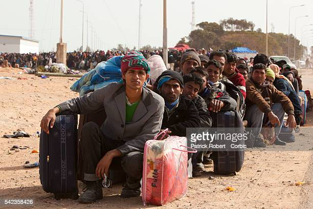 More than 200000 people have fled to neighboring Tunisia Egypt and Niger since Feb 15 when the uprising against Gadhafi began UN officials say Of...