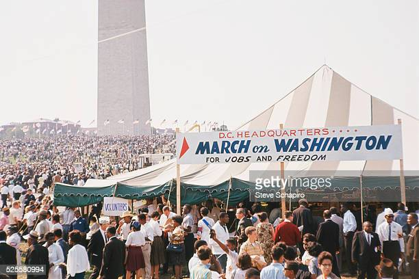 More than 200000 people participated in the March on Washington demonstrations The throng marched to the Mall and listened to Civil Rights leaders...