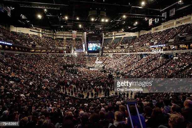 More than 22,000 people filled the Target Center to hear Democratic presidential hopeful Sen. Barack Obama speak at a rally at the Target Center...