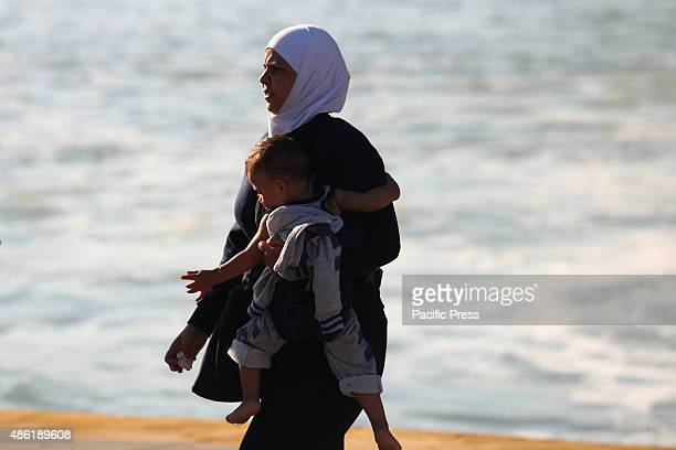 More than 2500 refugees from Syria arrive in Pireus through the Greek ferry ship Eleftherios Venizellos from the Greek island of Mytilini Greek...