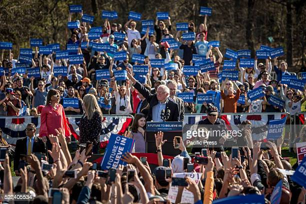 More than 28000 people flooded Brooklyn's Prospect Park for Presidential candidate Bernie Sanders The campaign called it his biggest rally yet Guests...