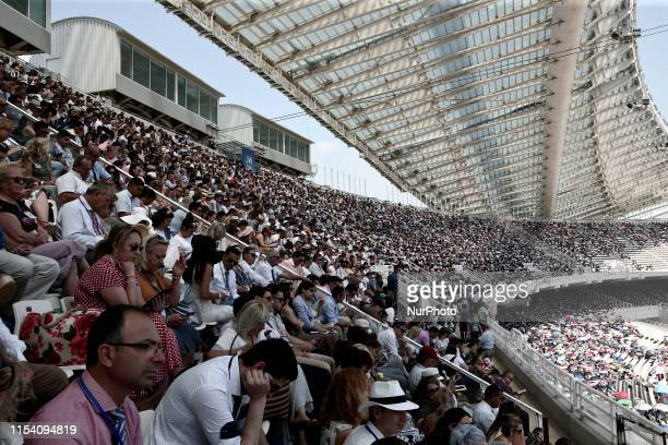 More than 40000 people with 6000 representatives from 50 countries attended the three day Convention of Jehovahs Witnesses at the Olympic stadium in...