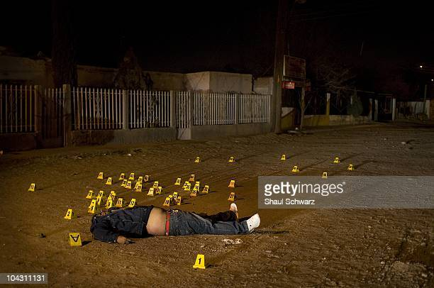 More than 50 bullets where shot from a semi automatic assault weapon in the assassination of this Narco affiliated man The death industry is booming...