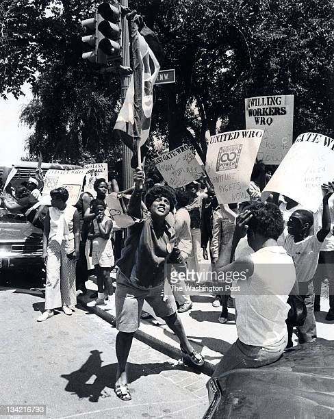 More than 500 angry welfare mothers demanding money to buy furniture stormed city welfare headquarters Tuesday June 23 1970 in Washington DC