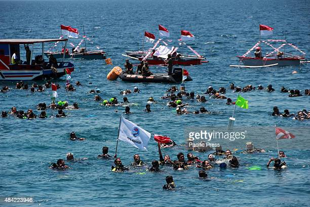 More than 500 divers which consisted of members of the Indonesian navy marines and civilians, dive together to plant tens of thousands of seeds of...