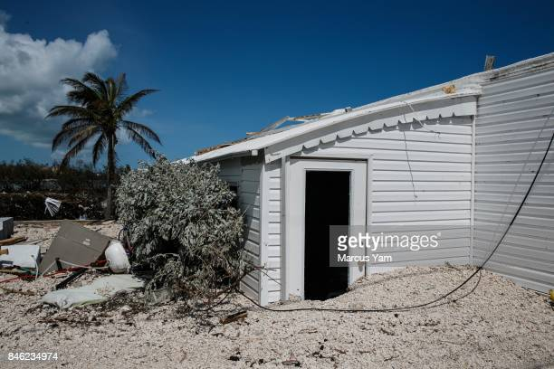 more than a feet of debris is left behind blocking access to trailer homes that were destroyed in the path of Hurricane Irma in Islamorada Florida...