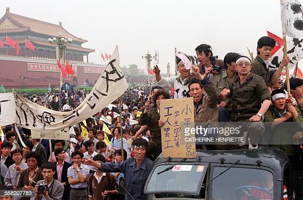 More than a million of Chinese workers filled the streets of Beijing on May 18 1989 to support the students' prodemocracy movement and their hunger...