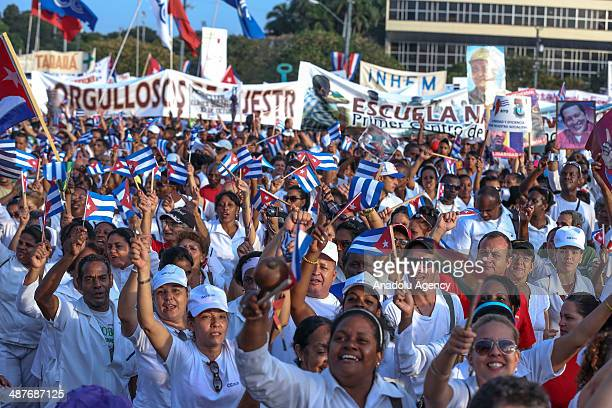 More than a million people including hundred of thousands visitors from abroad attend the May Day International Workers' Day celebrations held at the...
