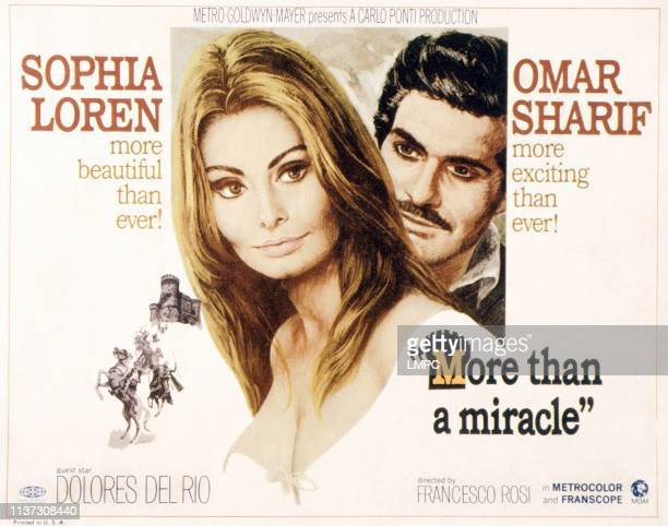 More Than A Miracle poster from left Sophia Loren Omar Sharif 1967